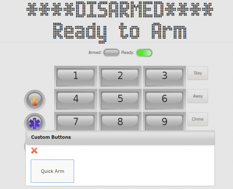 Custom Button on Keypad Page